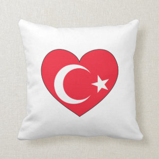 Turkey Flag Heart Cushion