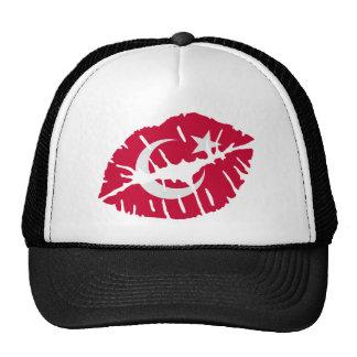 Turkey flag kiss trucker hat