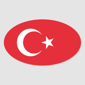 Turkey Flag Oval Sticker