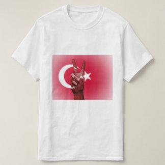 Turkey Flag Peace Sign - Patriotic T-Shirt