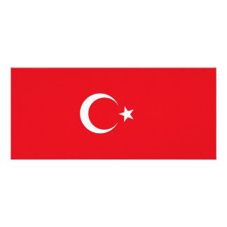 Turkey Flag Rack Card