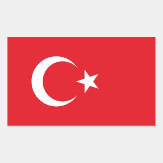Turkey Flag Rectangular Sticker