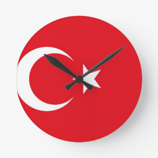 Turkey Flag Round Clock