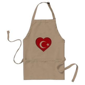 Turkey flag standard apron