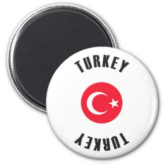 Turkey Flag Wheel Magnet