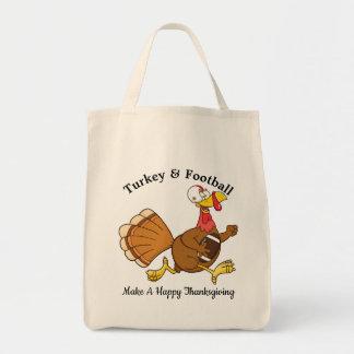 Turkey & Football Tote Bag