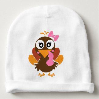 turkey girl baby beanie