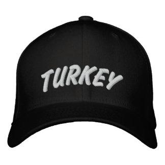 Turkey Hat BLACK Embroidered Hat