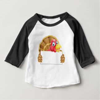 Turkey Holding a Sign Baby T-Shirt