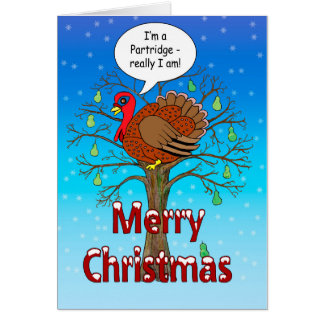 Turkey in a Pear Tree Greeting Card