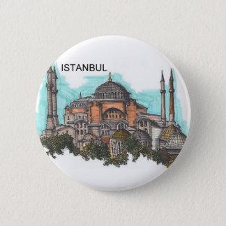Turkey Istanbul Hagia Sophia (by St.K) 6 Cm Round Badge