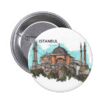 Turkey Istanbul Hagia Sophia (by St.K) Pinback Button