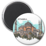 Turkey Istanbul Hagia Sophia (by St.K) Fridge Magnets