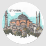 Turkey Istanbul Hagia Sophia (by St.K) Round Sticker
