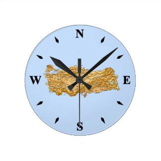 Turkey Map Clock