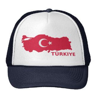 Turkey map flag Türkiye Mesh Hat