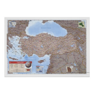 Turkey & Middle East Map 2002 Posters