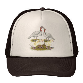 Turkey Mini White Family Cap