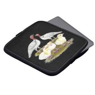 Turkey Mini White Family Laptop Computer Sleeve