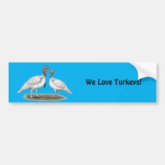 Turkey Mini Whites Bumper Sticker