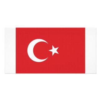 Turkey National Flag Photo Greeting Card