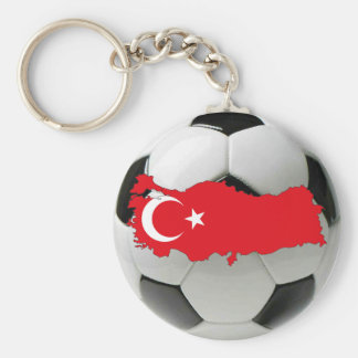 Turkey national team basic round button key ring