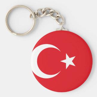 Turkey National World Flag Basic Round Button Key Ring