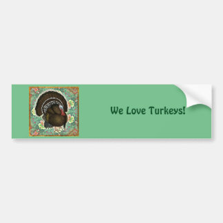 Turkey On the Greens Bumper Sticker