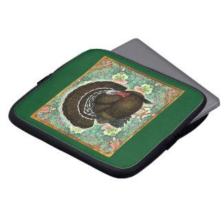 Turkey On the Greens Laptop Sleeves