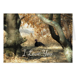Turkey Paradise I Love You Note Card