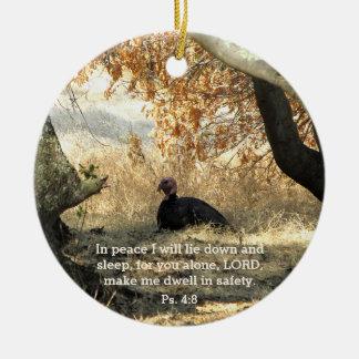 Turkey Paradise Psalm Ornament