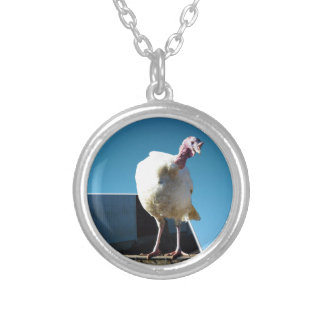 Turkey Popout Art, Silver Plated Necklace