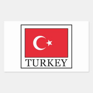 Turkey Rectangular Sticker
