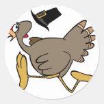 Turkey run round sticker