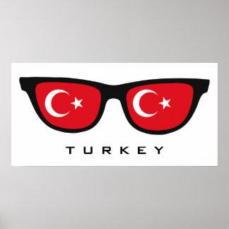 Turkey Shades custom text & color poster