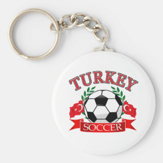 Turkey soccer ball designs basic round button key ring