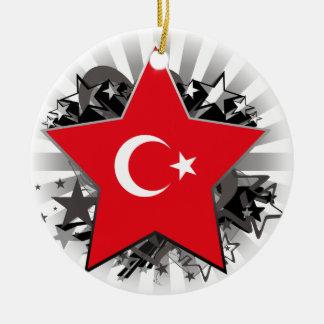 Turkey Star Ceramic Ornament
