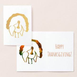 Turkey Thanksgiving Gold Foil Foil Card