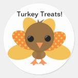 Turkey Thanksgiving Treat Bag Sticker