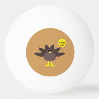 Turkey Time Thanksgiving Ping Pong Ball