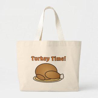 Turkey Time Thanksgiving Tote Bag