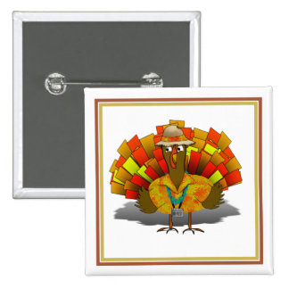 Turkey Tourist on Vacation 15 Cm Square Badge