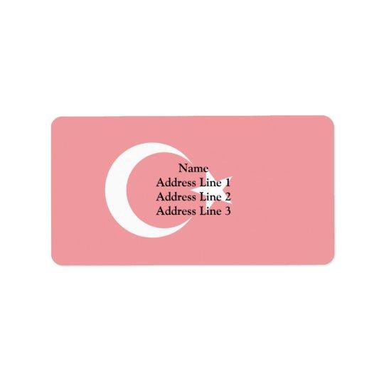 Turkey, Trinidad and Tobago flag Address Label