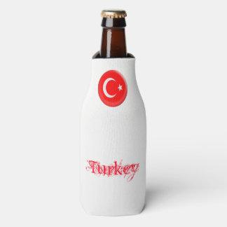 Turkey Turkish Red & White Flag Bottle Cooler