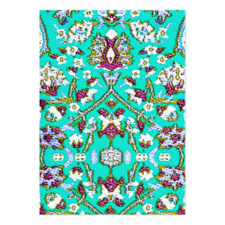 Turkey Turkish Textile Cloth Rug Pattern Blues Business Card Template