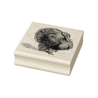 Turkey Vintage Rubber Art Stamp