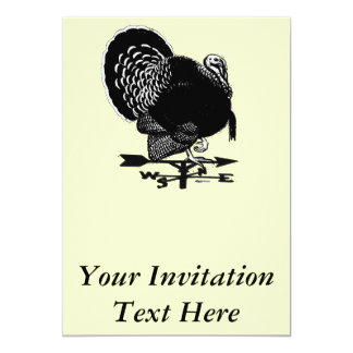 "Turkey Weathervane 5"" X 7"" Invitation Card"