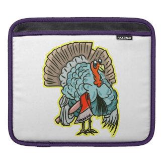 Turkey with an ax funny thanksgiving iPad sleeve