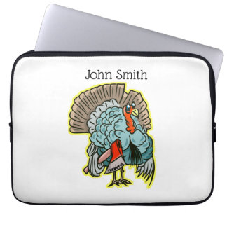 Turkey with an ax funny thanksgiving laptop sleeve