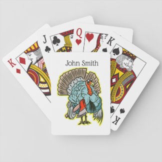 Turkey with an ax funny thanksgiving playing cards